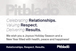 Pitblado, wishing you a joyous holiday season.